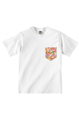 Lovebite Clothing Pocket Tee Candy Hearts (White) - YOU ARE MY POISON