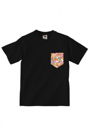Lovebite Clothing Pocket Tee Candy Hearts (Black) - YOU ARE MY POISON