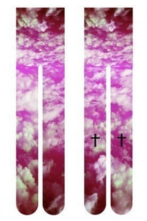 All-Over Print Tights (Sky Cross) - YOU ARE MY POISON