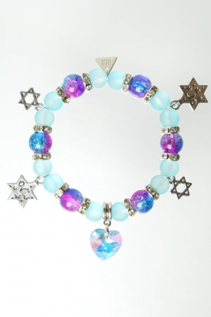 XTS Heart Crystal L.Blue Bracelet - YOU ARE MY POISON