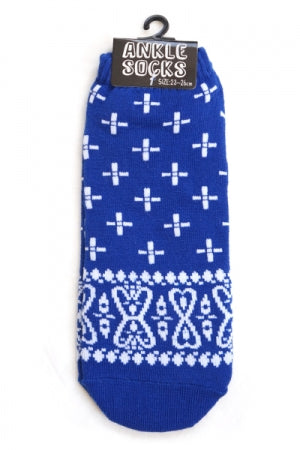 Ladies Ankle Socks (Bandana Navy) - YOU ARE MY POISON