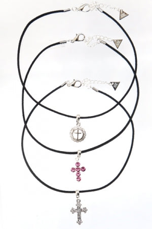 XTS Suede Cord Choker 3set(Cross) - YOU ARE MY POISON