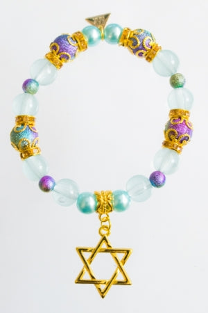 XTS Magical Hexagram Blue Bracelet - YOU ARE MY POISON