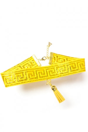 XTS China Tassel Choker Yellow - YOU ARE MY POISON