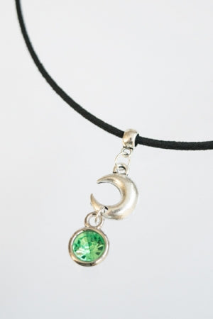 XTS Moon Crystal Suede Cord Choker (Green) - YOU ARE MY POISON