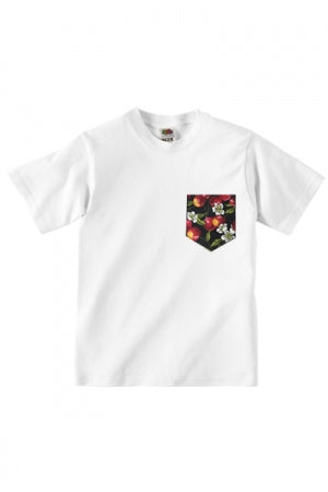 Lovebite Clothing Pocket Tee Cherry (White) - YOU ARE MY POISON