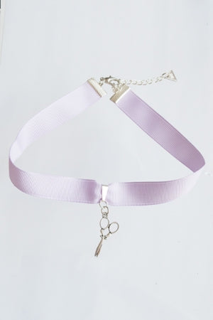 XTS Scissors Lavender Choker - YOU ARE MY POISON