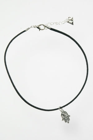 XTS Hamsa SV Suede Cord Choker - YOU ARE MY POISON