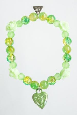 XTS Angel Rose Green Bracelet - YOU ARE MY POISON