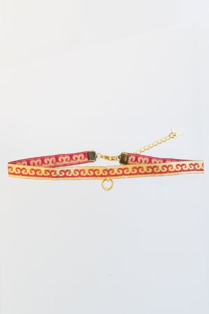 XTS China Ribbon Ring Choker - YOU ARE MY POISON