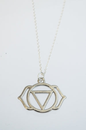 XTS Circle Motif Series 6 Silver Necklace - YOU ARE MY POISON