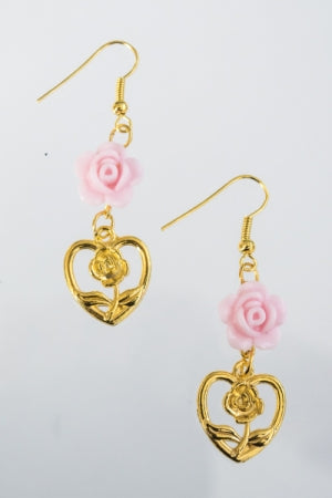 XTS Pink Rose Hearts Gold Pierce - YOU ARE MY POISON