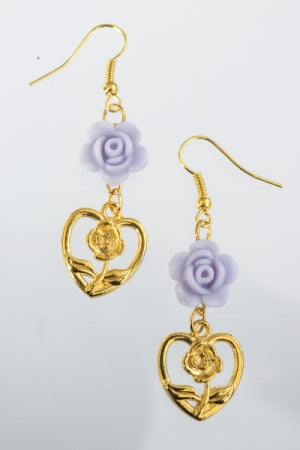 XTS Purple Rose Hearts Gold Pierce - YOU ARE MY POISON