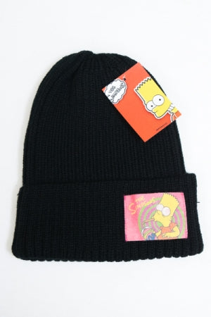 Simpsons Patch Beanie (Black) - YOU ARE MY POISON