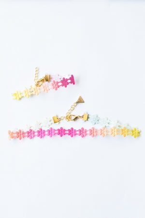 XTS Flower Lace Choker & Bracelet(Colorful) - YOU ARE MY POISON