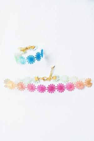 XTS Flower Lace Choker & Bracelet 2(Colorful) - YOU ARE MY POISON