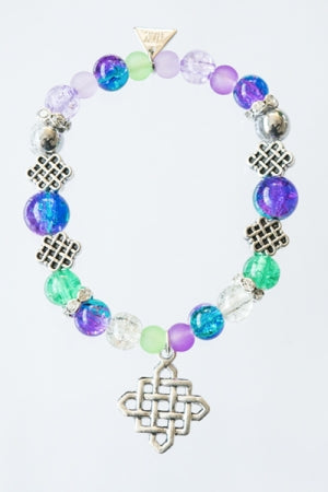 XTS Waffle Bracelet(Purple & Green) - YOU ARE MY POISON
