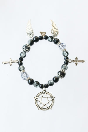 XTS Pentagram Wings Bracelet(Black) - YOU ARE MY POISON