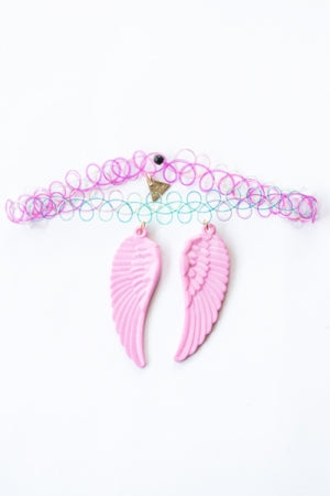 XTS Wings Tattoo Necklace (Light Pink) - YOU ARE MY POISON