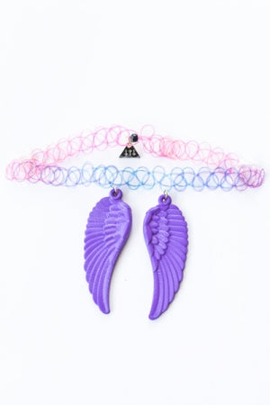 XTS Wings Tattoo Necklace (Purple) - YOU ARE MY POISON