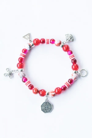 XTS China Fretwork Bracelet (Red) - YOU ARE MY POISON