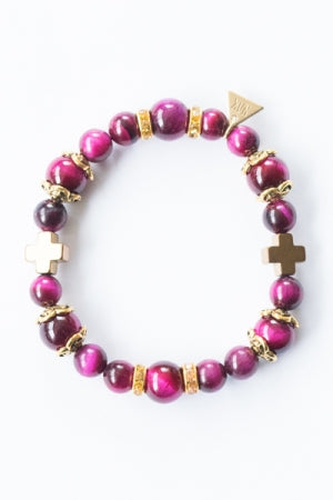 XTS Centered Bracelet (Pink) - YOU ARE MY POISON