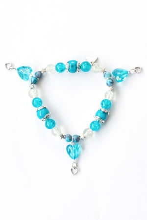 XTS Crystal Heart Bracelet (Blue) - YOU ARE MY POISON