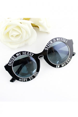 Big Logo Sunglasses (Black) - YOU ARE MY POISON