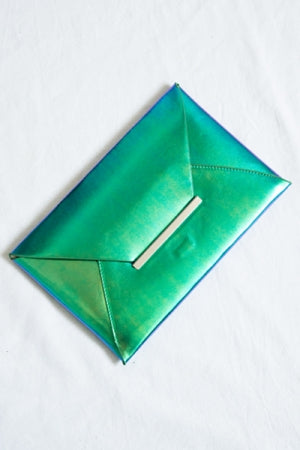 Metallic Flat Clutch Bag - YOU ARE MY POISON