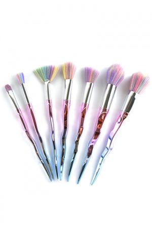 Metallic Gradation Makeup Brush 7pcs Set (Pink) - YOU ARE MY POISON