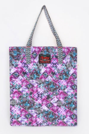 KRAVITZ KRABAG(2-1049) Purple Flower Tote Bag - YOU ARE MY POISON