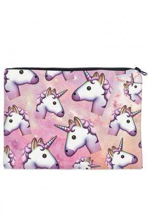 Print Flat Pouch (Pink Unicorn) - YOU ARE MY POISON