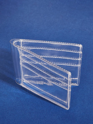 Clear Fold Over Purse