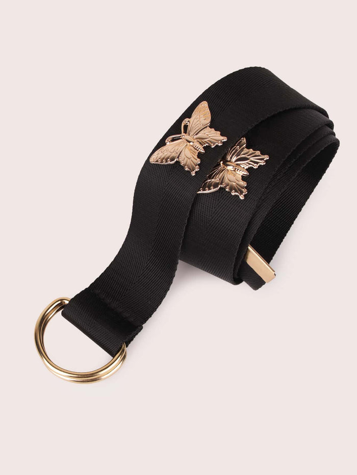 Butterfly Decor Tape Belt (Black)