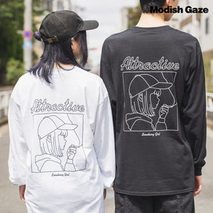 Smoke Girl L/S T-shirt (2 color)