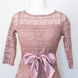 Back Open Lace 2Way Ribbon Dress (4 color)