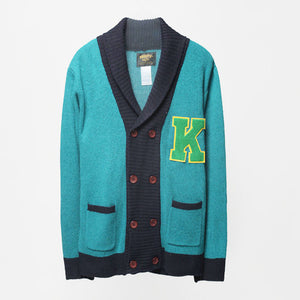 KRAVITZ Knit Cardigan KT-4015-GN (15-1) (Blue Green)