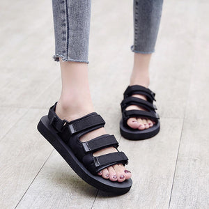 Ladies Belt Comfort Sandal (Black)