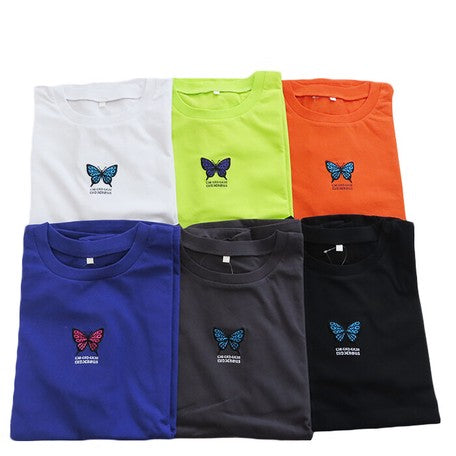 Ring Joint Sleeve Butterfly T-shirt (4 color)