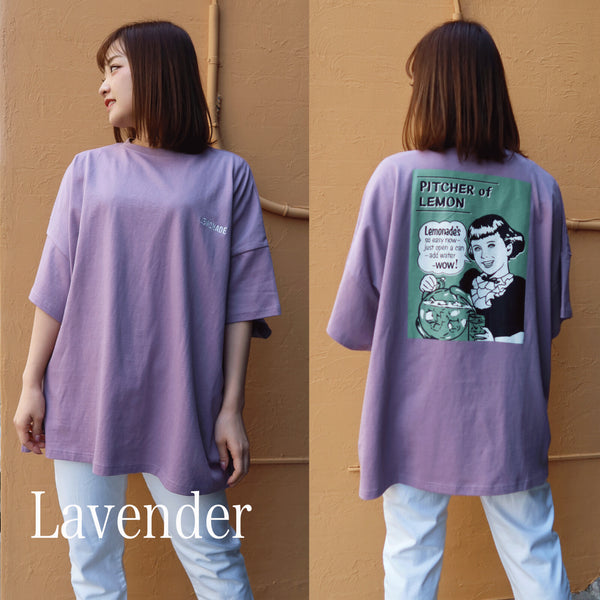 easy as nap LEMONADE JAR S/S Oversized T-shirt (2 color)