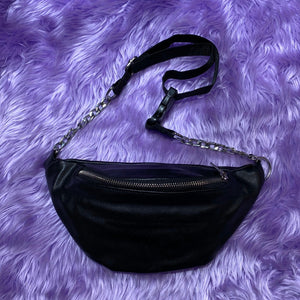 Fake Leather Waist Pouch (Black)