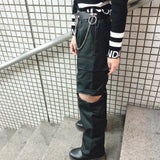 Separate Cargo Pants (Black)