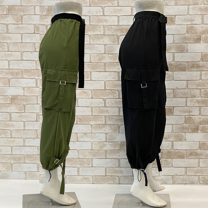Cargo Pants w/Belt (2 color)