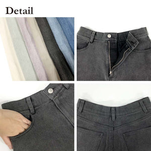 Denim Straight Pants (2 color)