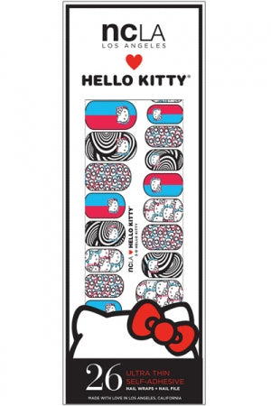 ncLA NAIL WRAPS 3-D HELLO KITTY - YOU ARE MY POISON