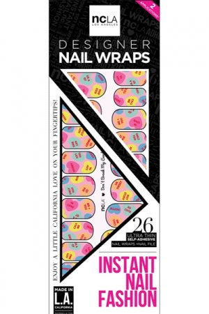 ncLA NAIL WRAPS Don't Break My Candy Heart - YOU ARE MY POISON