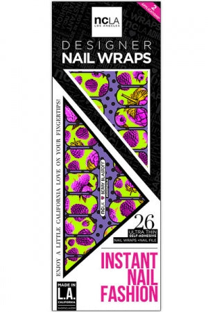 ncLA NAIL WRAPS BERRY BLASTOFF - YOU ARE MY POISON