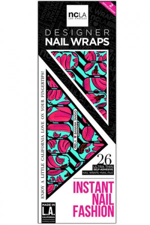 ncLA NAIL WRAPS BANANA TANGO - YOU ARE MY POISON