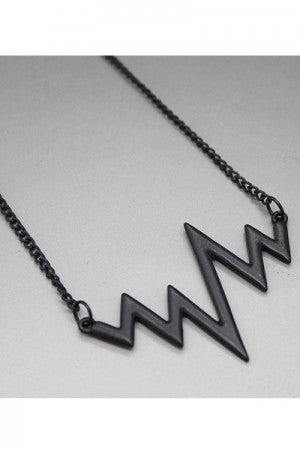 Big Signal Necklace Black - YOU ARE MY POISON