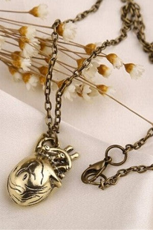 The Heart Medium Necklace (Gold) - YOU ARE MY POISON